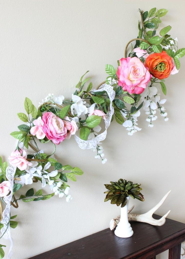 Flores de primavera 25 coronas y guirnaldas - Decoracion de guirnaldas ...