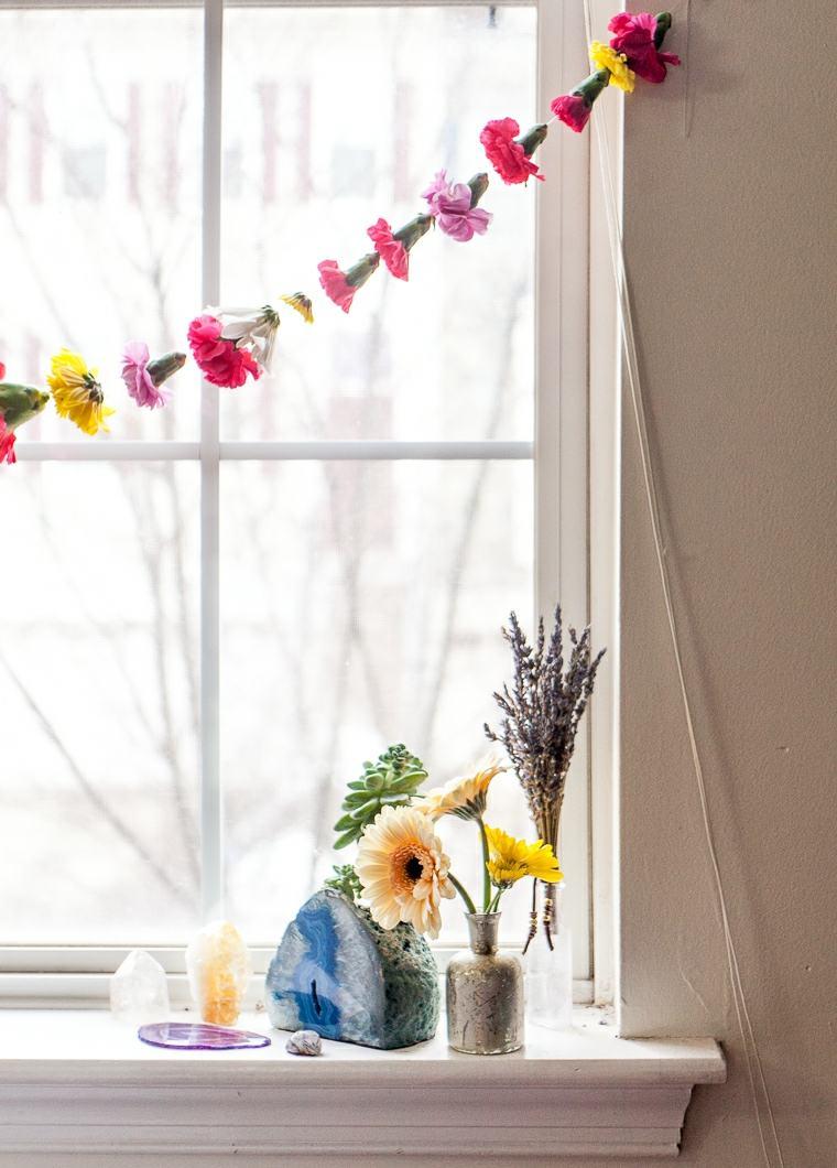 flores de primavera opciones corona caramfilos ventana ideas