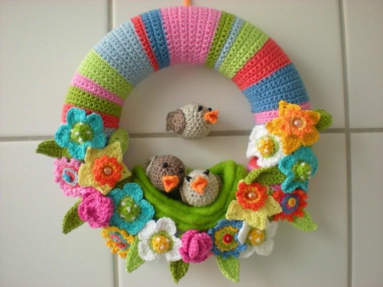 flores de primavera opciones coronas pajaros ideas
