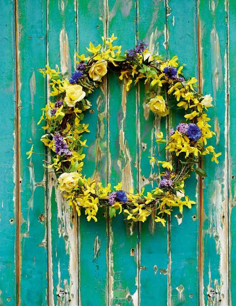 flores de primavera opciones coronas puerta vintage ideas