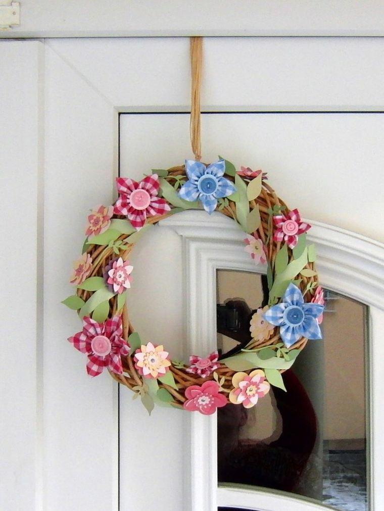 flores de primavera opciones coronas tela ideas