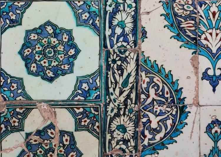 flores mosaicos estilo mediterraneo clasico