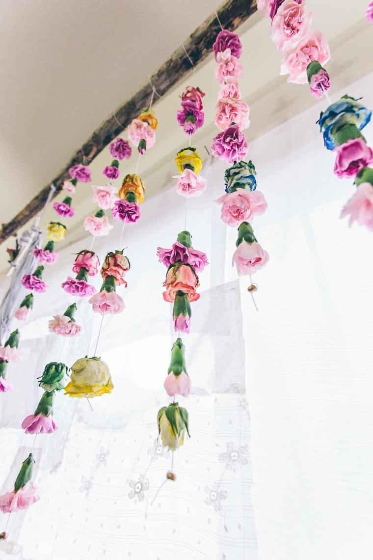 flores ventana gurnaldas bonitas ideas