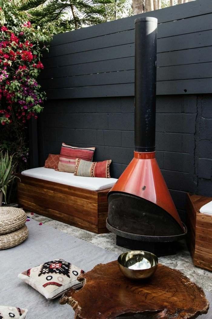 fotos primavera verano terraza chimenea moderna ideas