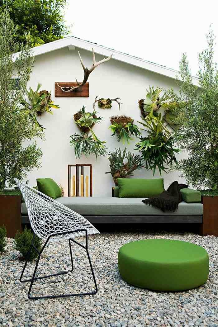fotos primavera verano terraza macetas pared ideas