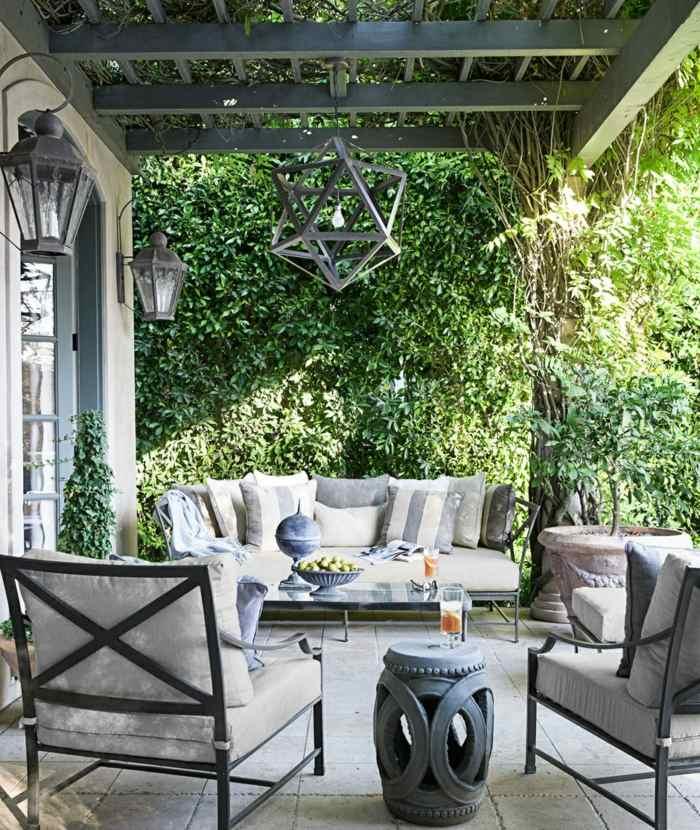 fotos primavera verano terraza muebles acero ideas