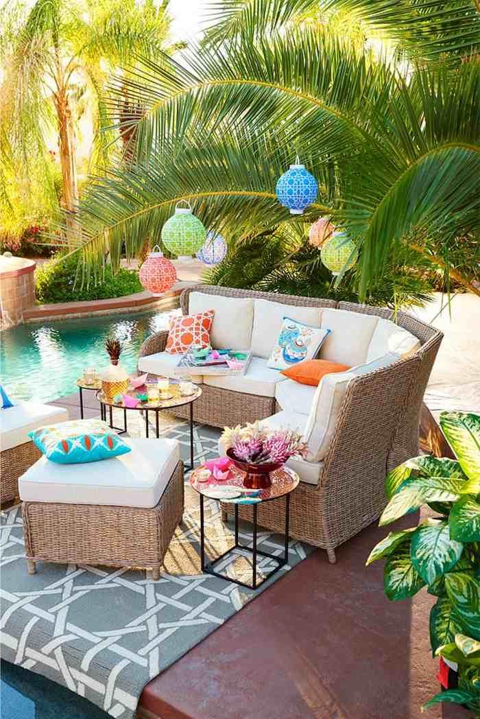 fotos verano primavera terraza candelabros colores ideas