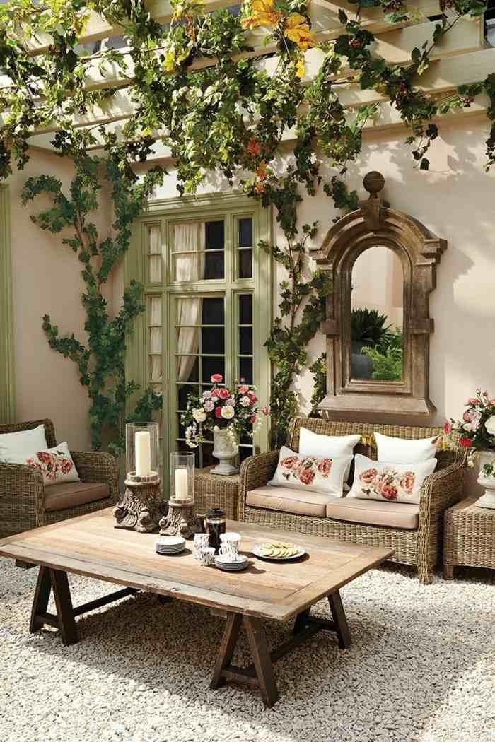 fotos verano primavera terraza mesa madera ideas
