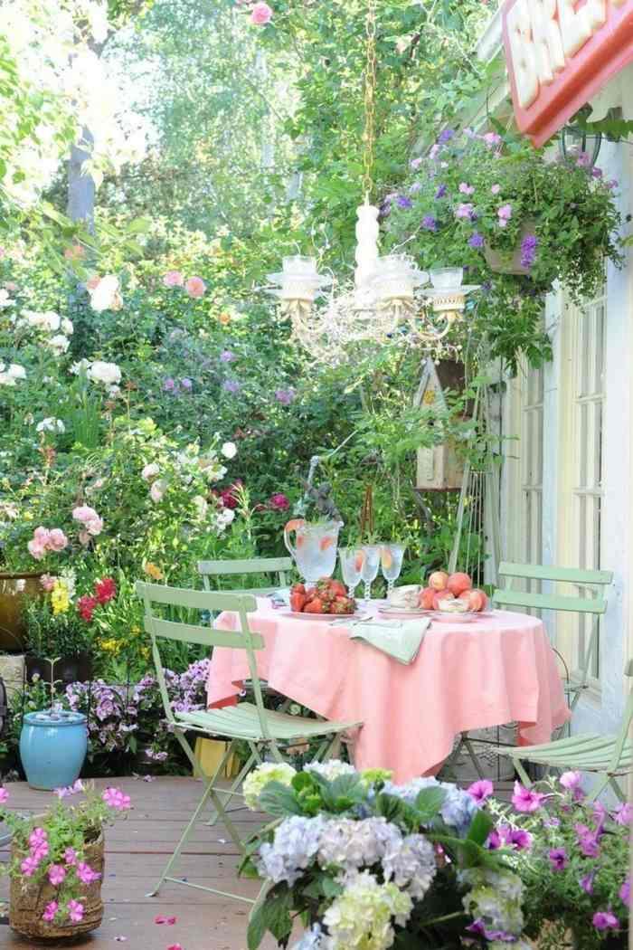 fotos verano primavera terraza patio plantas ideas