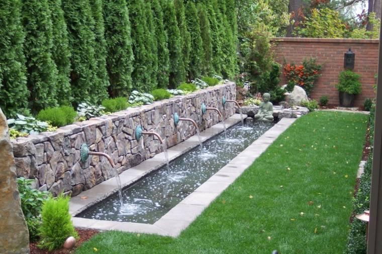 El agua en el jard n 50 ideas de fuentes estanques y m s - Jardines con fuentes de agua ...