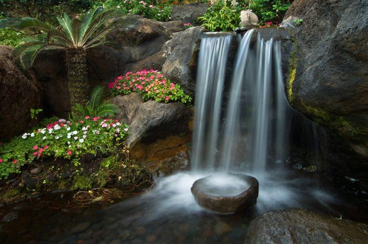fuente cascada natural piedra dco