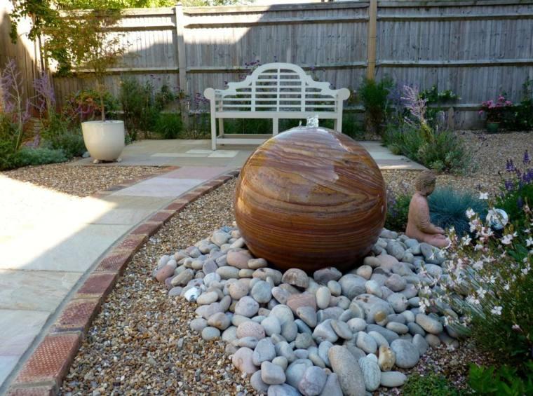 El agua en el jard n 50 ideas de fuentes estanques y m s - Fuentes para jardin caseras ...