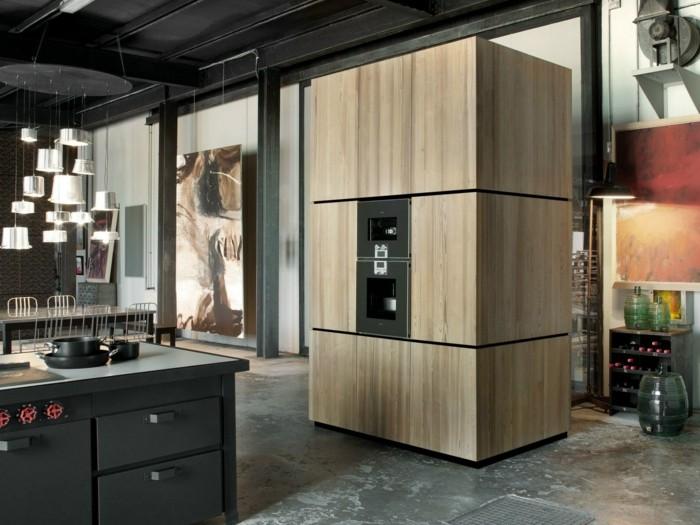 gabinetes madera salones rojos negros
