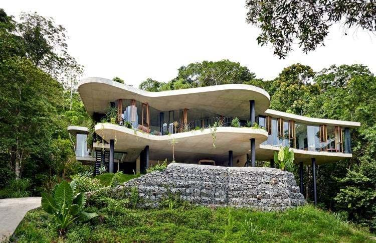 gabion house modern design