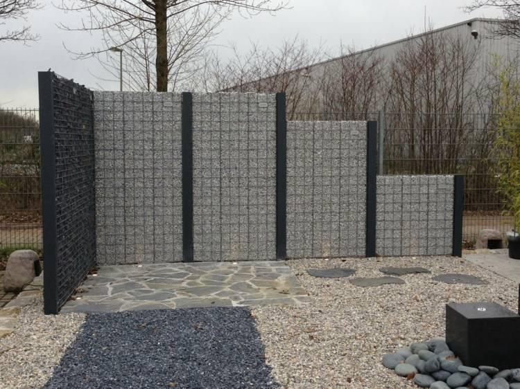 gaviones decorativos de piedra paredes medida View in gallery diseño gavion estilo moderno