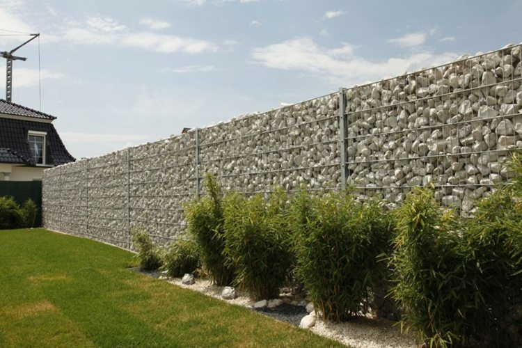 gavion moderno muro jardín