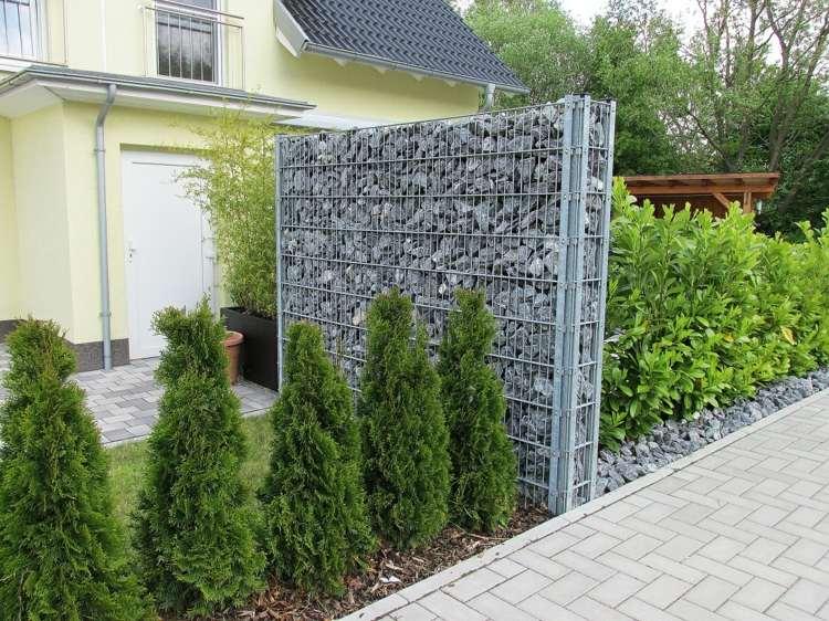 Gaviones y muros de alambre y piedras 63 dise os Ideas para muros de jardin