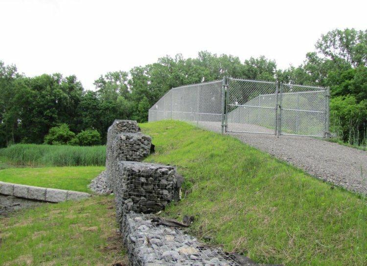 gavion muros gradas jardin piedra