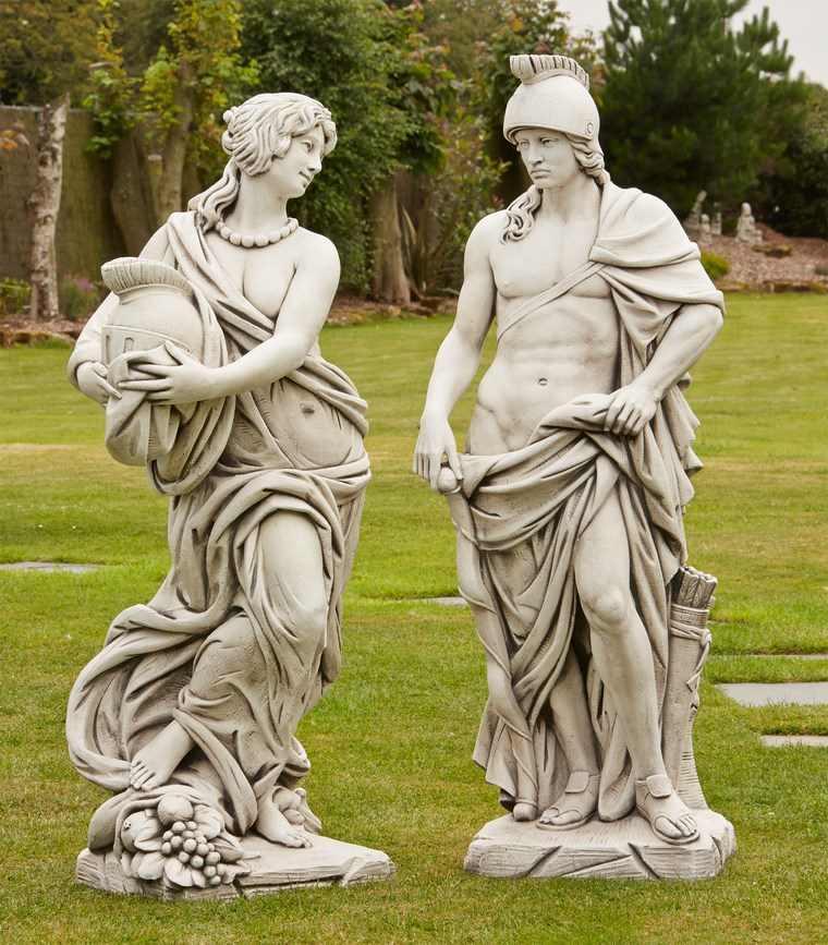 gladiador esculturas romanicas decorando jardin ideas