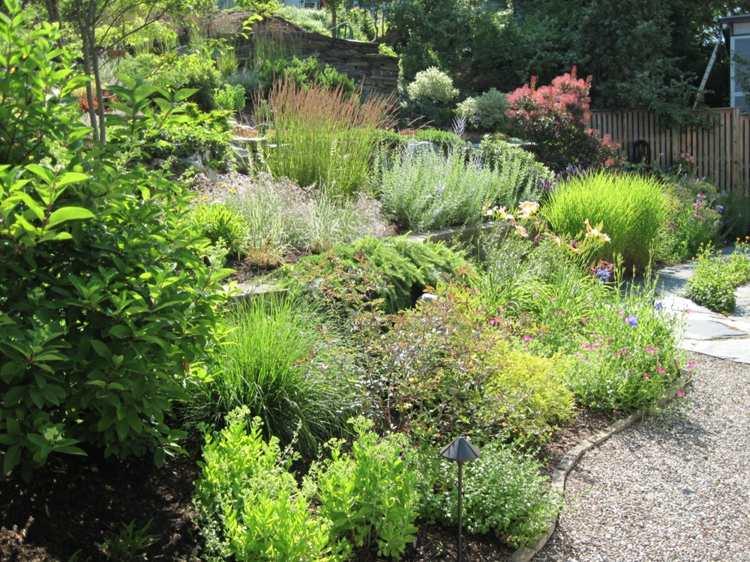 gradas jardin escaleras plantas