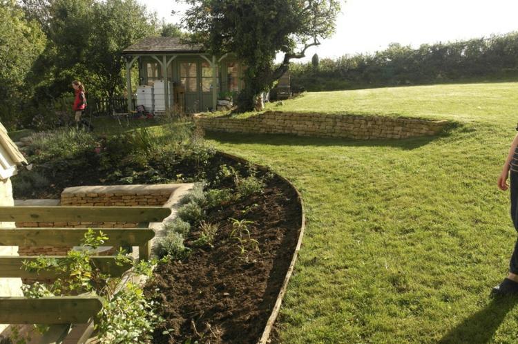 gradas jardin nivelaciones naturales