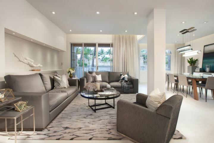 grises amplios muebles colores estantes metales