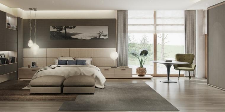 diseño habitación colores neutros claros