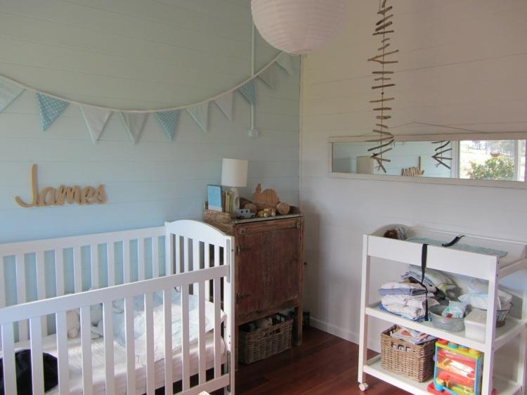 bonita habitación bebe color celeste