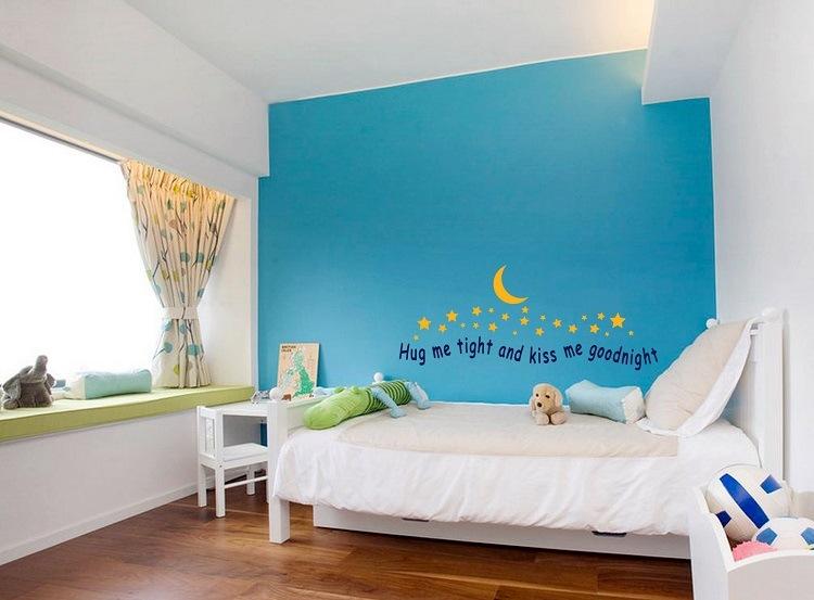 habitacion-infantil-pared-azul-opciones-estilo