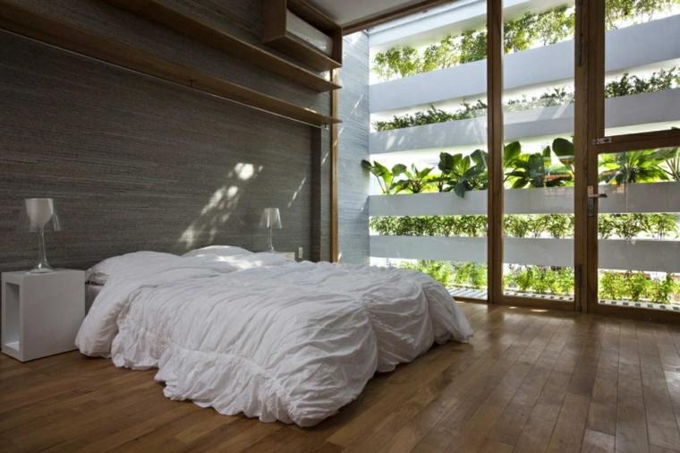habitacion moderna jardin vertical