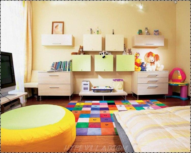 habitacion oroginal diseño alfombra