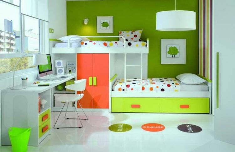 habitaciones colores vivos diseño