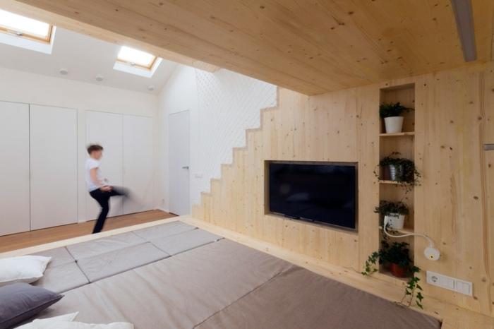habitaciones creatividad maderas claras luces