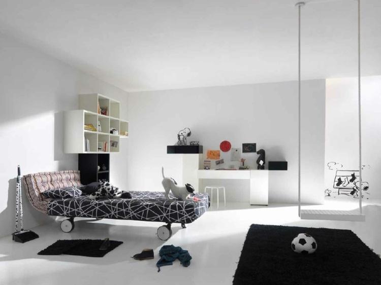 habitaciones modernas perro cama ruedas