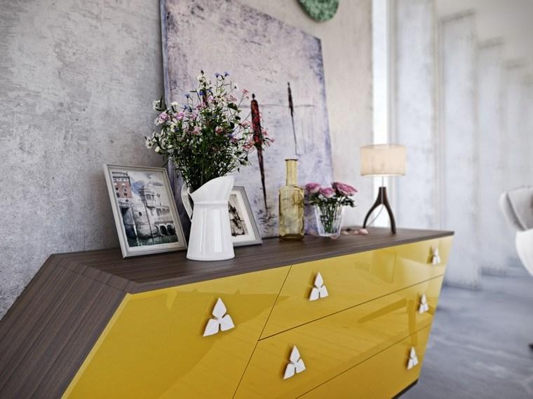 harun kaymaz cómoda amarilla moderna