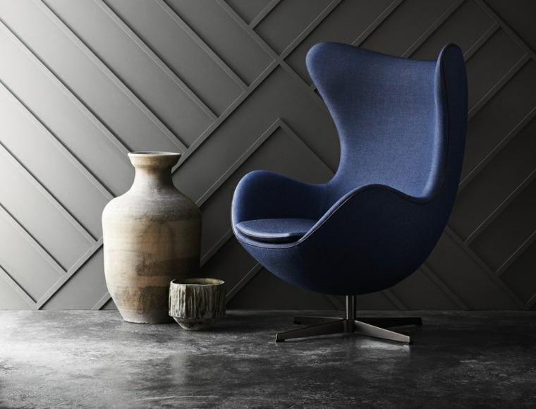 iconos mobiliario azules telas grises