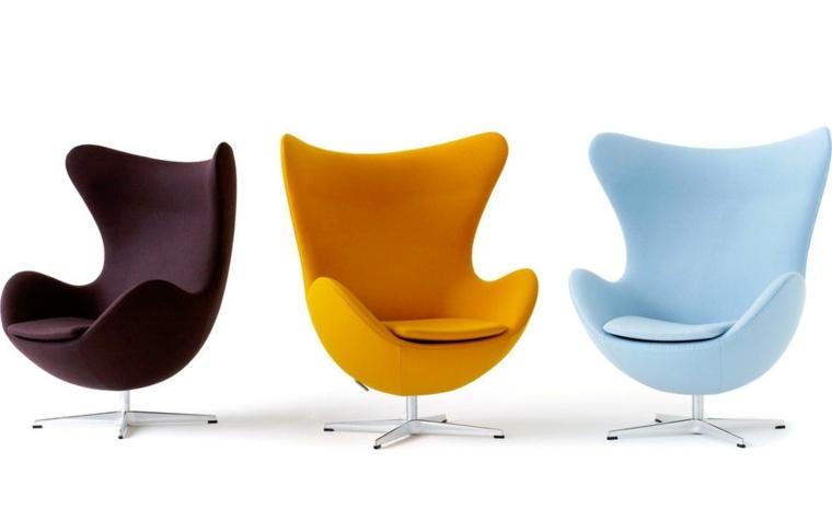 iconos mobiliario variedad colores metales