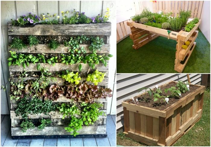 Ideas creativas de reciclar palets en 25 imagenes for Ideas con palets para jardin