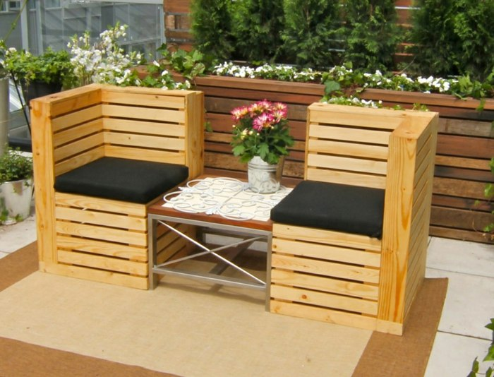 ideas creativas palets sillones reciclasdos exterior