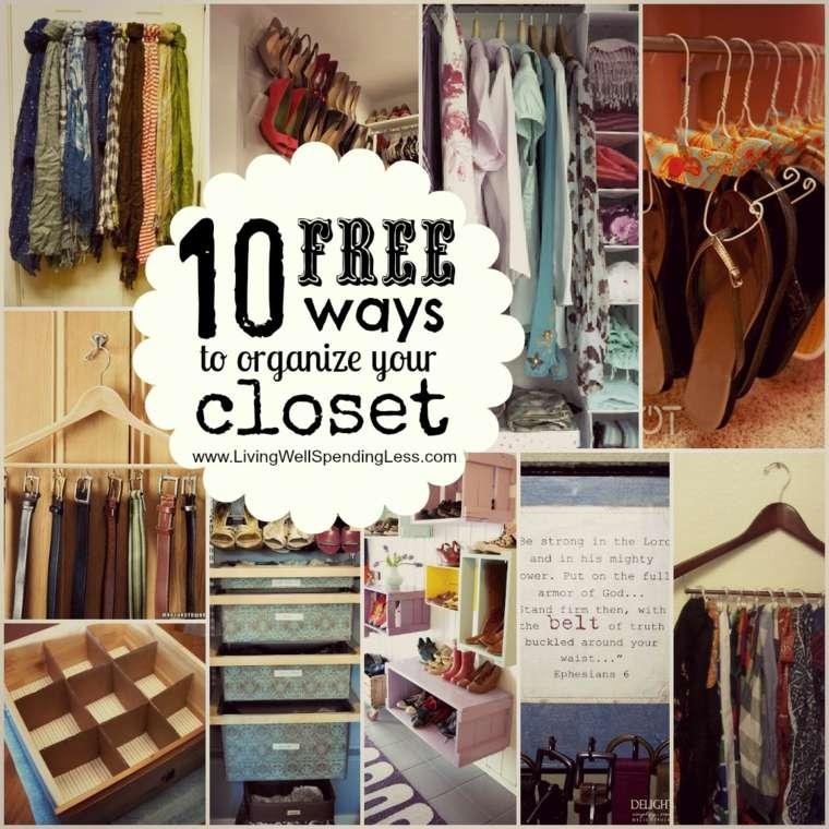 diy small closet organizer ideas - o organizar un armario 50 ideas útiles y prácticas