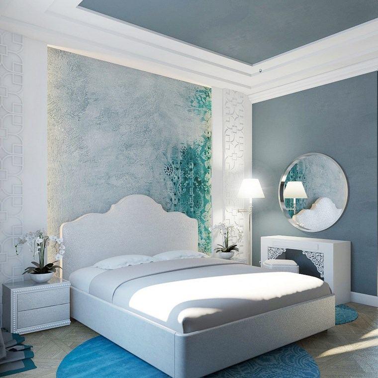 iluminacion led opciones interiores alfombra azul dormitorio ideas