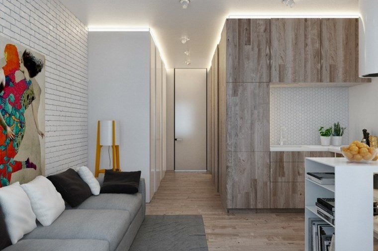 iluminacion led opciones interiores apartamento pequeno ideas