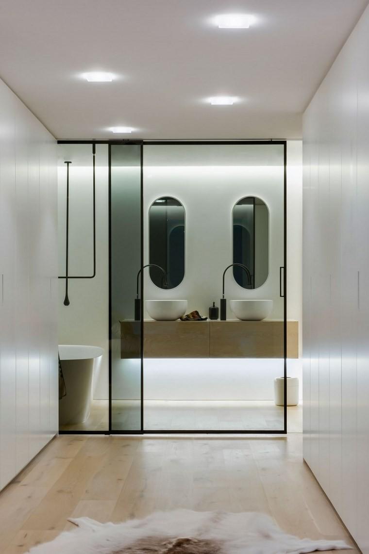 iluminacion led opciones interiores bano lineas limpias ideas