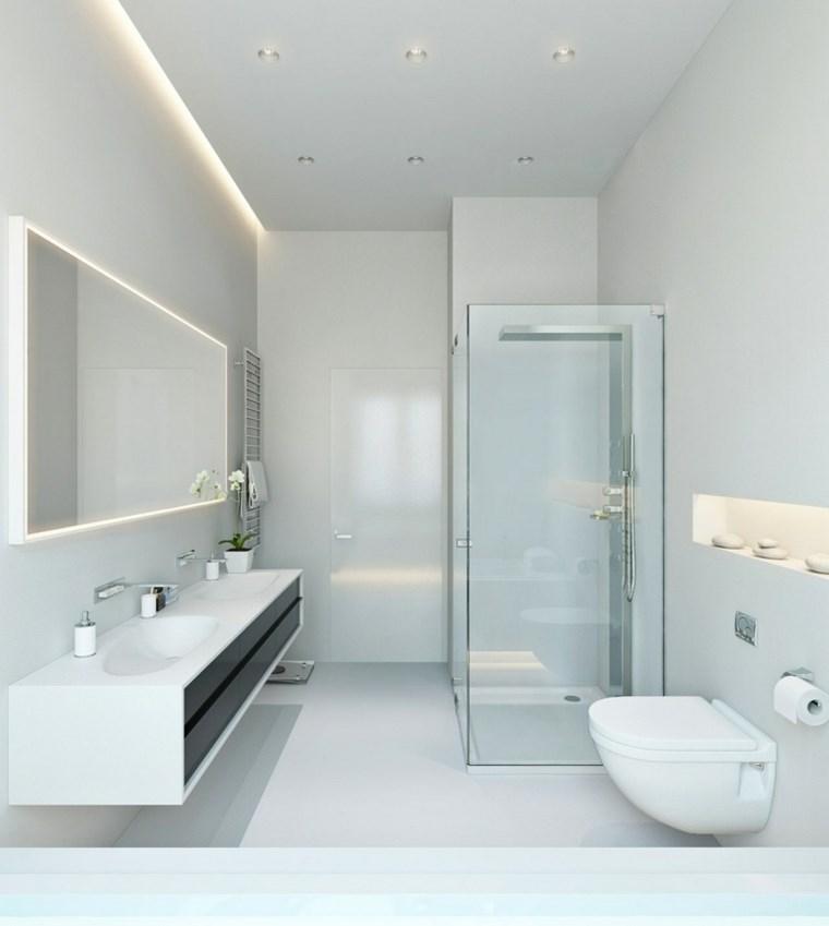 Accesorios De Baño Colocados:iluminacion led opciones interiores bano blanco ideas