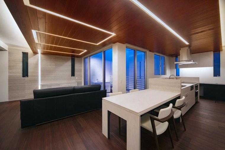 iluminacion led opciones interiores diseno cocina abierta ideas