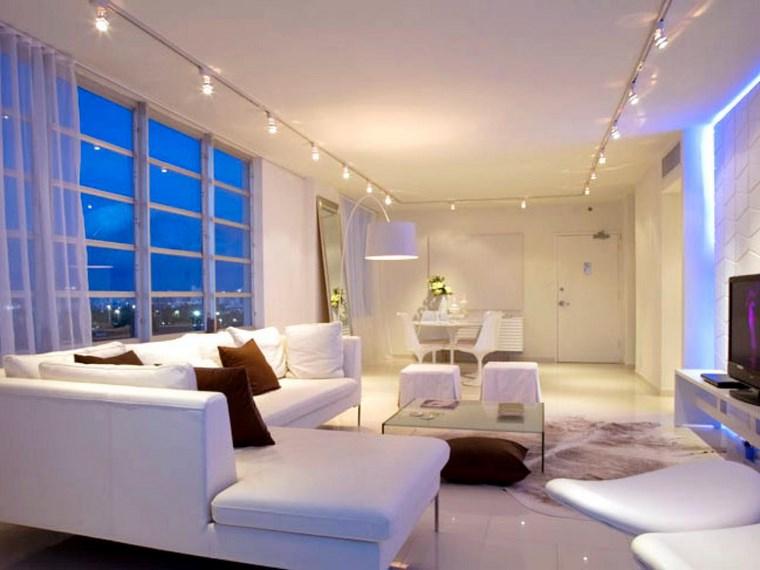 iluminacion led opciones interiores espacios blancos ideas