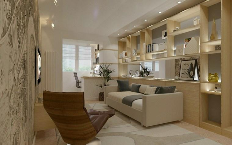 iluminacion led opciones interiores estanterias ideas