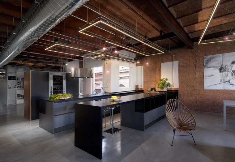 Luz led 100 interiores con dise o espectacular - Iluminacion estilo industrial ...