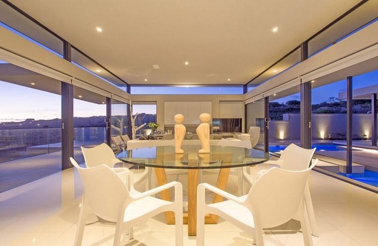 iluminacion led opciones interiores mesa cristal ideas