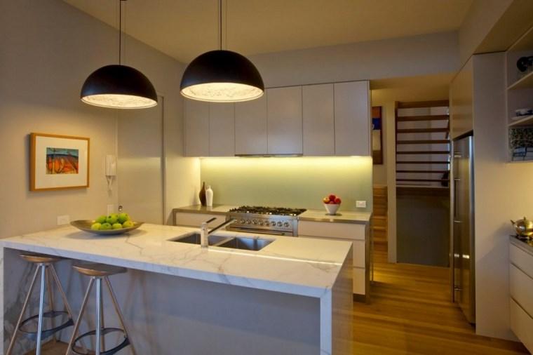 iluminacion led opciones interiores muebles blancos ideas